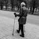 man walking in Riga