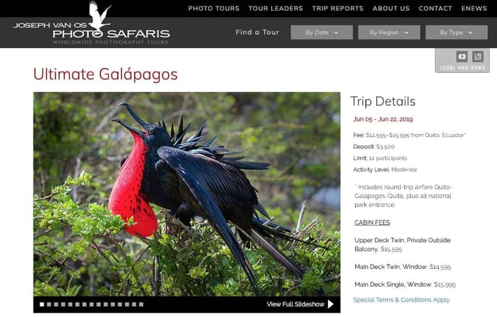 Ultimate Galápagos Photography Workshop-Trip with Joseph Van Os