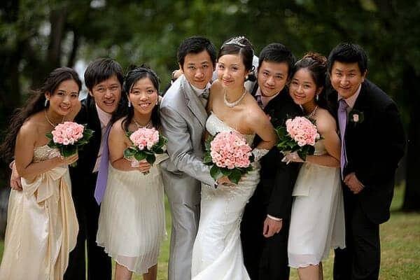 Natural light wedding photos