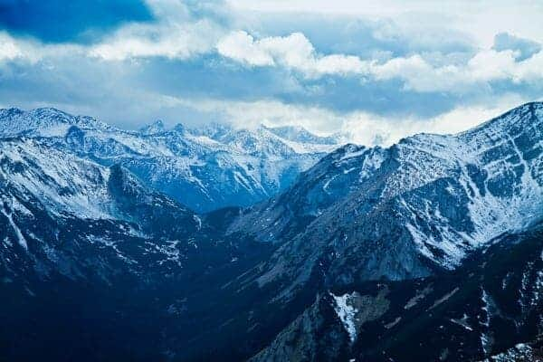Mountain winter snowy landscape