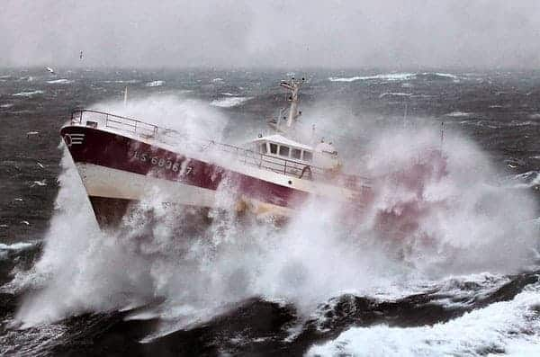 French Fishing Vessel 'Alf' in the Irish Sea by UK Ministry of Defence