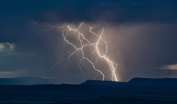 Lightning strikes by John Fowler