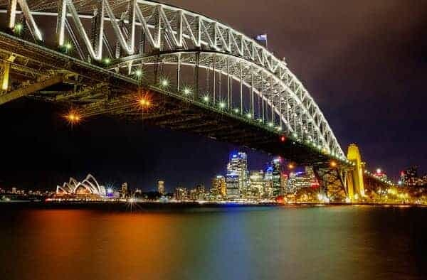 Sydney Harbour Bridge and Opera House by Rex Boggs