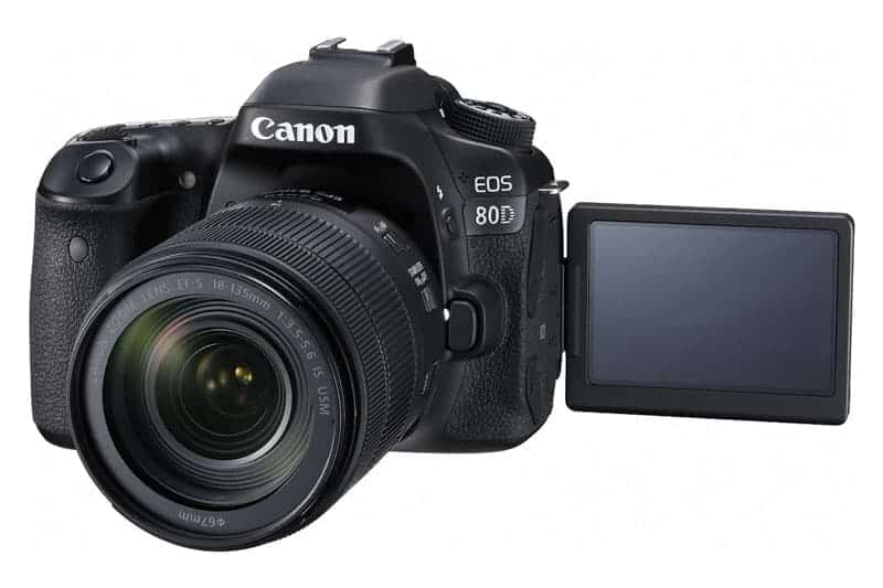 Canon eos 80d review: LCD EOS 80D