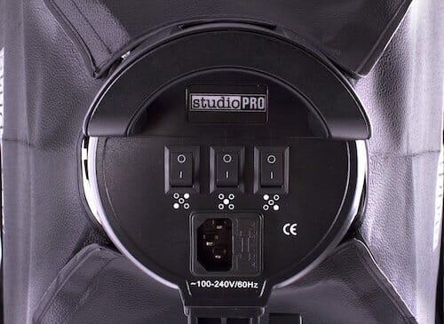 studiopro lighting kit - on-off switch