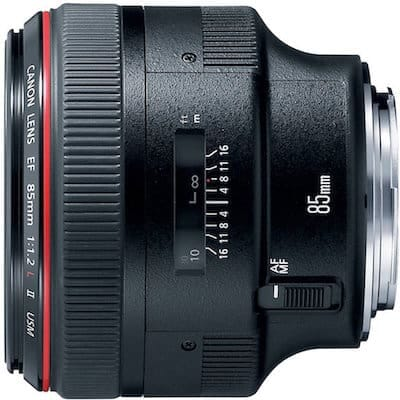 Best Portrait Lens for Canon Rebel: EF 85mm f/1.2L II USM