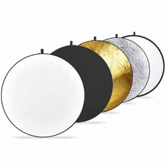 Neewer 43-inch / 110cm 5-in-1 Collapsible Multi-Disc Light Reflector