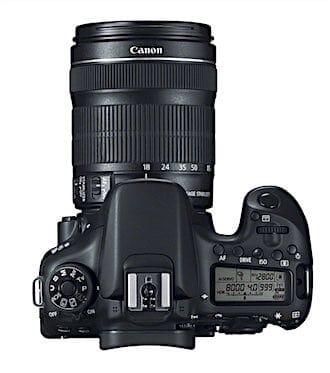 Canon EOS 70D Top View