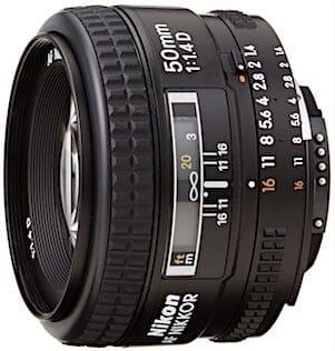 Nikon AF FX NIKKOR 50mm f/1.4D Fixed Zoom Lens with Auto Focus for Nikon DSLR Cameras