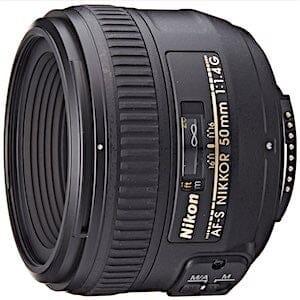 Nikon AF-S FX NIKKOR 50mm f/1.4G Lens with Auto Focus