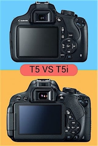 Canon EOS Rebel T5 vs T5i LCD and Buttons
