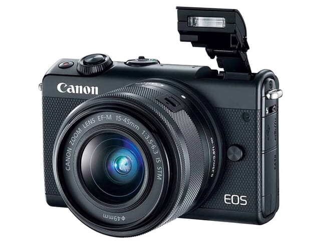 Canon EOS M100 Mirrorless Camera w/15-45mm Lens - Wi-Fi, Bluetooth, and NFC Enabled (Black)