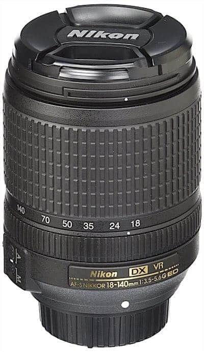 Nikon AF-S DX NIKKOR 18-140mm f:3.5-5.6G ED Vibration Reduction Zoom Lens with Auto Focus