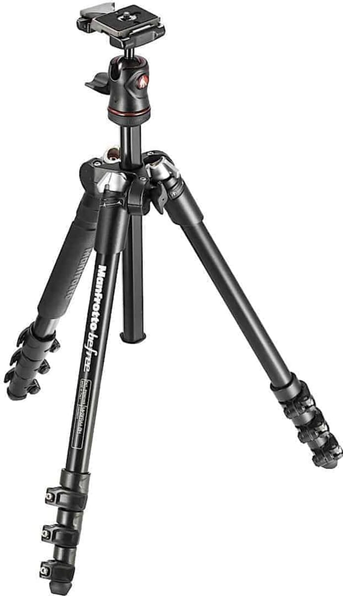 Best Tripod Under $200: Manfrotto MKBFRA4-BH BeFree Compact Aluminium Travel Tripod