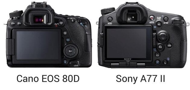 Canon and Sony LCD Screens