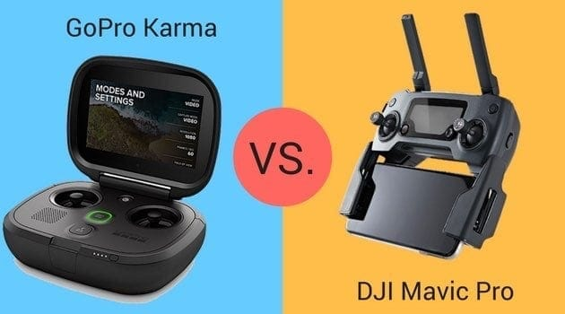 GoPro Karma vs. DJI Mavic Controllers