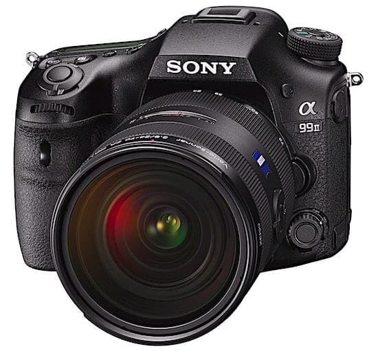 Sony a99 II Front View: Shooting 12 FPS