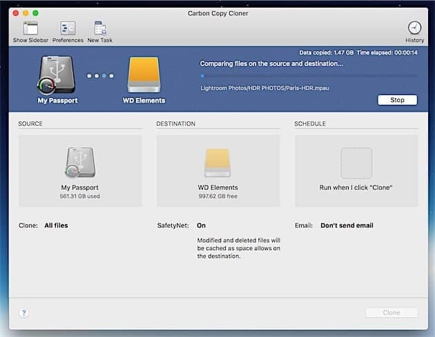 Carbon Copy Cloner: An Easy Solution for Backing Up all Your Images