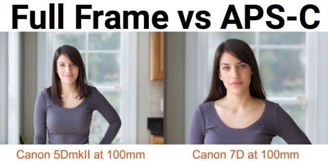 Crop Sensor vs Full Frame DSLR Sensor Sample Image