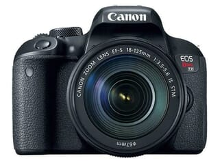 Canon Rebel T7i with 18-55mm kit lens