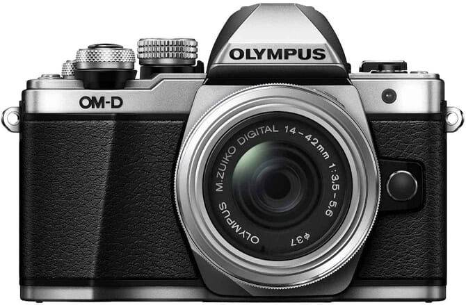 Olympus OM-D E-M10 Mark II Mirrorless Digital Camera with 14-42mm II R Lens (Silver)