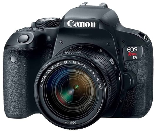 Great for Bloggers: the Canon EOS REBEL T7i with the EF-S 18-55 IS STM Kit