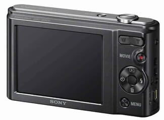 Sony W800/B 20 MP Digital Camera Back View