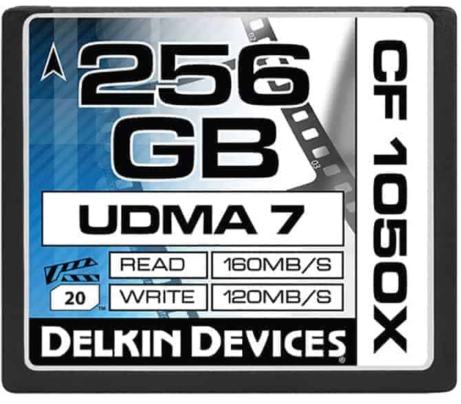 Delkin 256GB Compact Flash Card (Amazing CF Card)