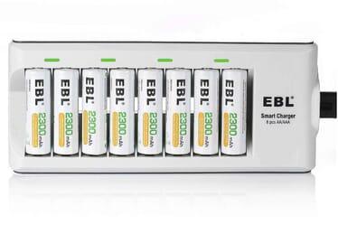EBL 8 Bay Smart AA/AAA Battery Charger