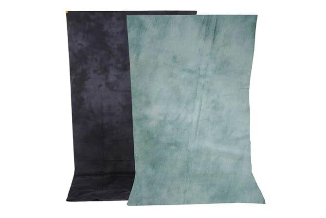 Reversible cotton muslin backdrop