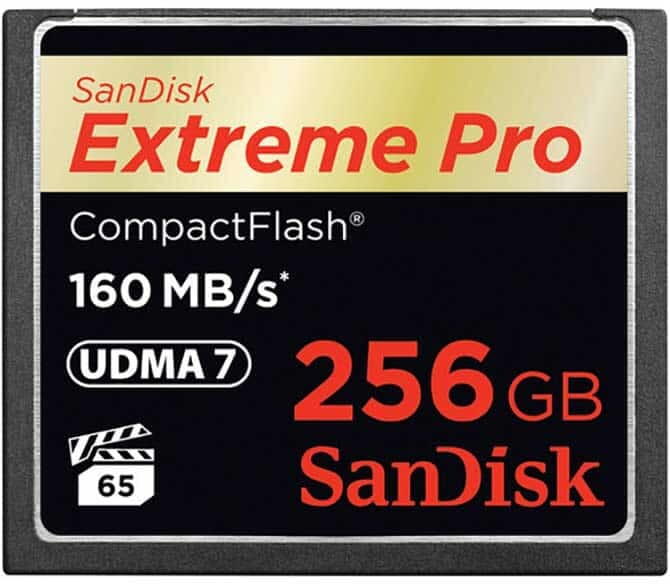 SanDisk Extreme Pro 256GB (a Great Compact Flash Card)