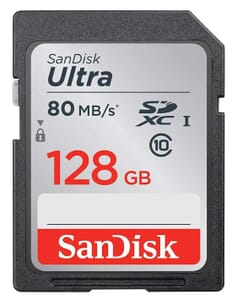 Sandisk 128GB SD memory card