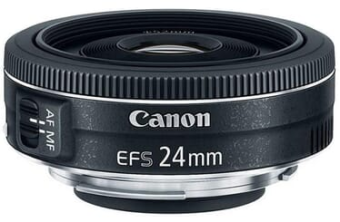 One of the best lenses for Canon EOS 80D: the Canon EF-S 24mm f/2.8 STM Lens