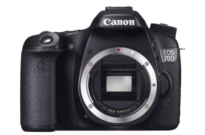 Still one of the most presented DSLRs: the Canon EOS 70D