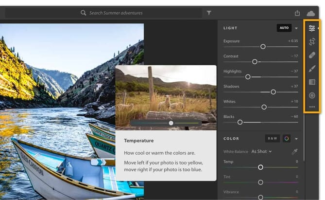Lightroom CC (Trimmed Down Editing Functionality)