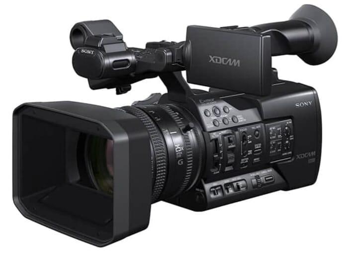 Best Professional Camcorders: Sony PXWX180 XDCAM XAVC HD422 Hand-held Camcorder