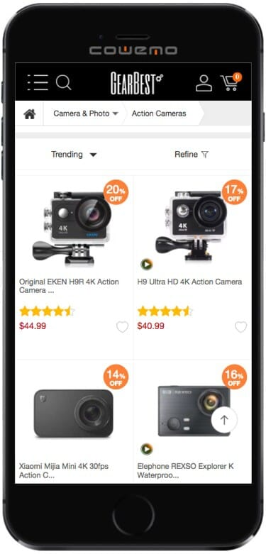 GearBest Review (Mobile Version)