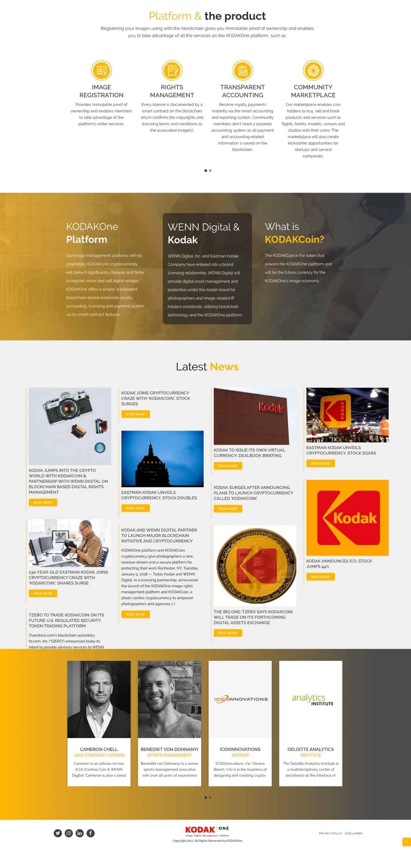 Kodakone Website Screenshot