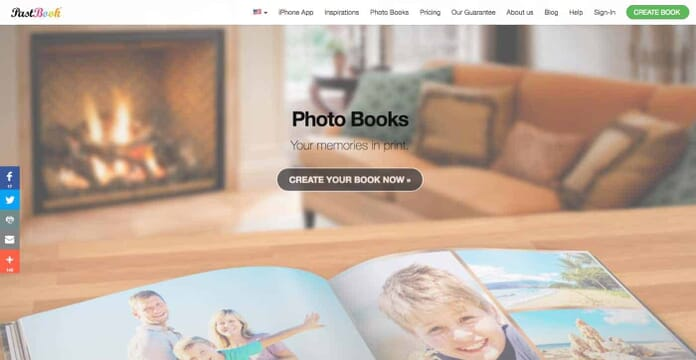 PastBook.com Photo Books on Demand #3 in our list of best photo book printers.