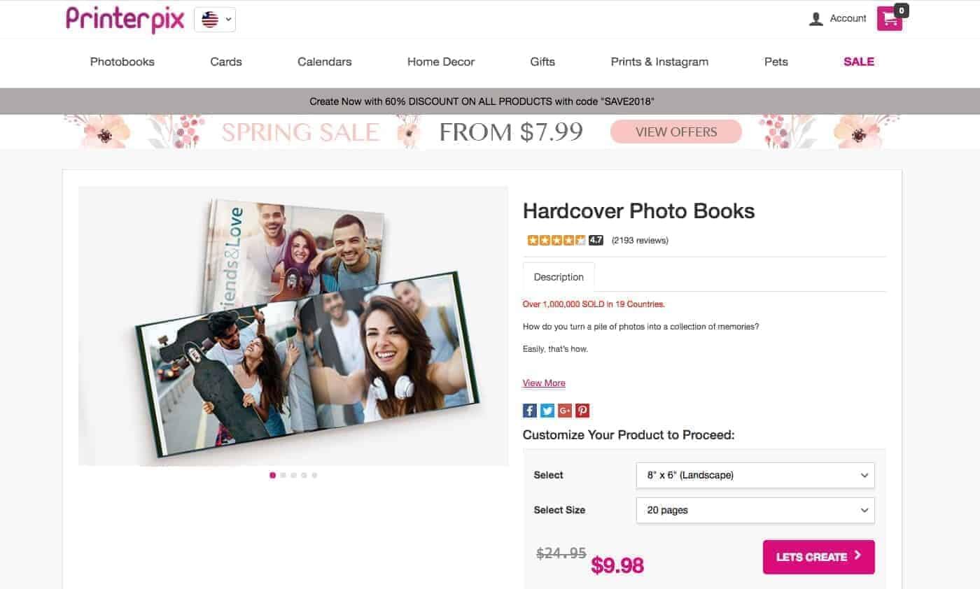 PrinterPix.com Hardcover Photo Books under $10!