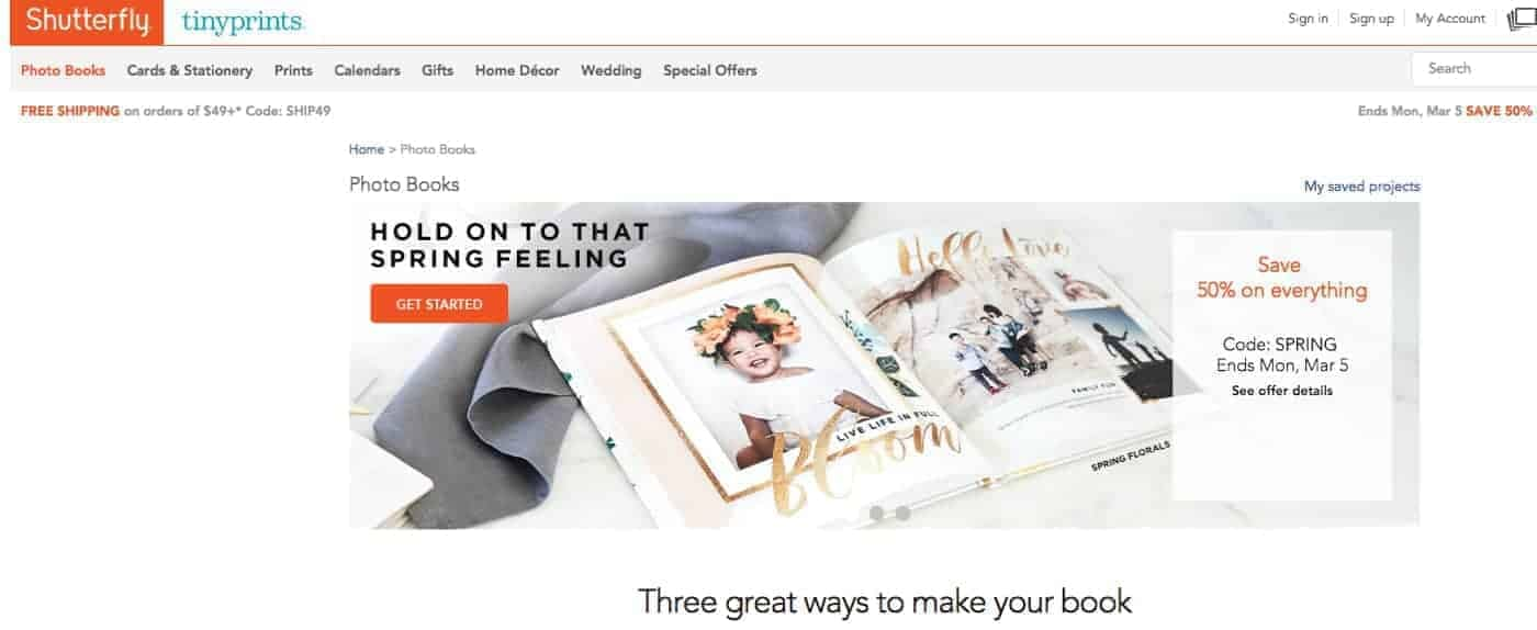 Shutterfly #2 of the Best Photo Book Printers