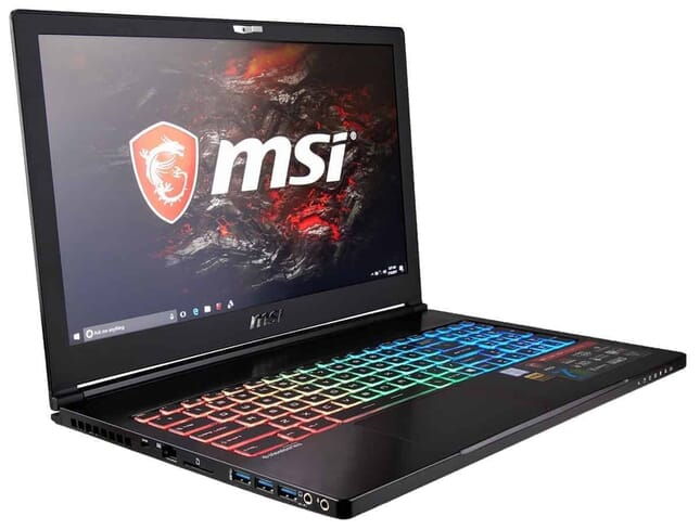 CUK MSI GS63VR Stealth Pro Gamer VR Ready