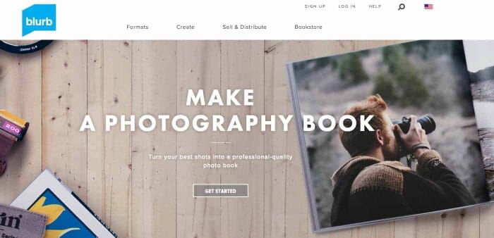 3. Make a Photobook with your Instagram Photos using Blurb, Website Screenshot from: https://www.blurb.com/professional-photo-books