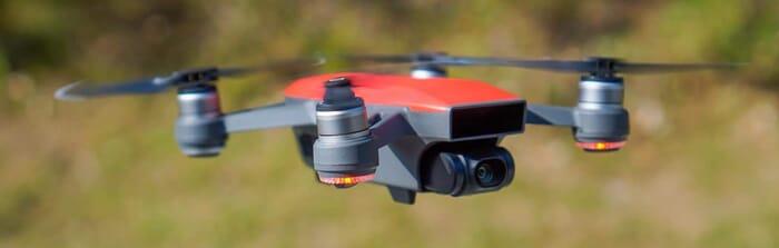 DJI Spark Drone in Flight