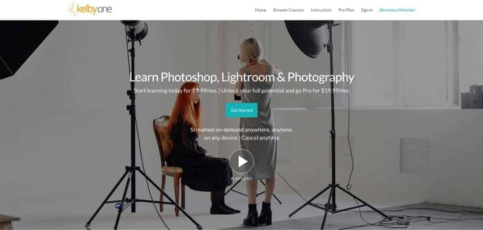 KelbyOne Membership - Learn Photoshop, Lightroom and Photography from $9.99 (Screenshot from KelbyOne.com)