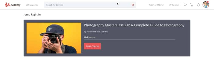 Photography Masterclass 2.0 A Complete Guide to Photography (New Version 2018 - One of the Best Photography Classes Online, Screenshotp from Udemy.com)