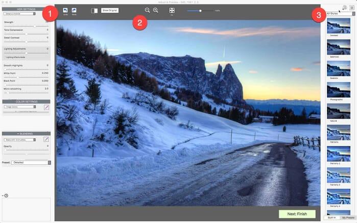 Photomatix Pro 6 Review, Interface on a Mac (Screenshot)
