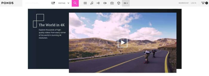 Pond5 has the world's largest collection of royalty-free stock video footage (Screenshot from Pond5.com)