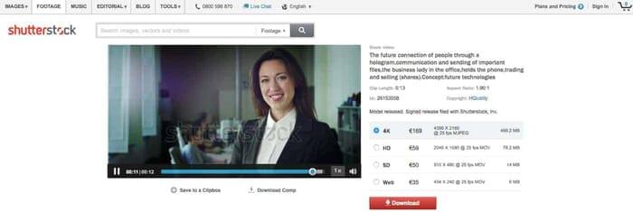 Shutterstock has some of the best royalty-free stock videos (Screenshot Shutterstock.com)