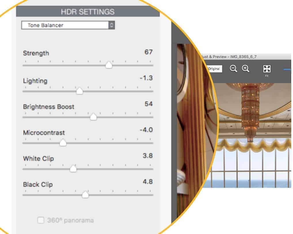 Tone Balancer HDR Settings in Photomatix Pro6